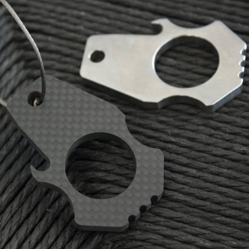 Carbon Fiber Bottle Opener Keychain   Bastion