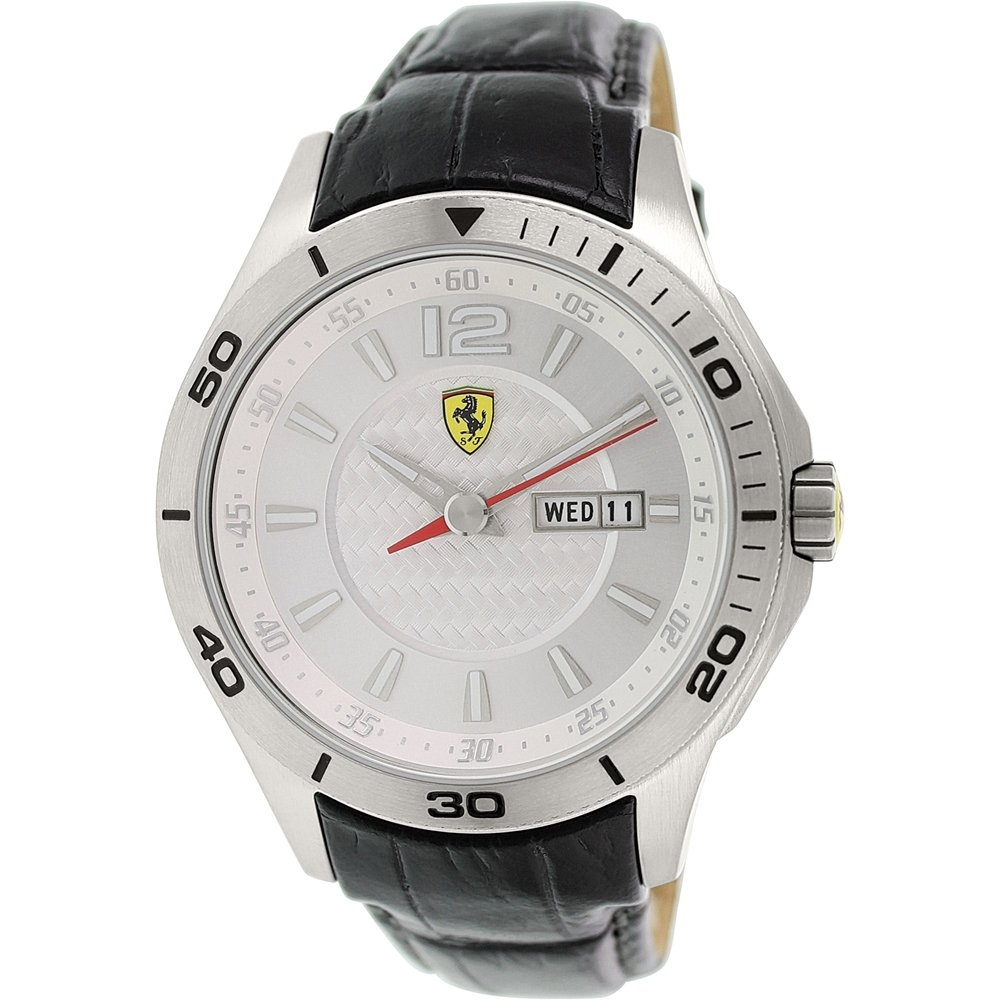 Ferrari Men's Scuderia Silver Watch