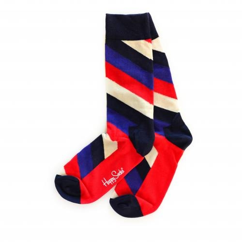Socks | Colorful Stripes, Green with Yellow Speckles Socks