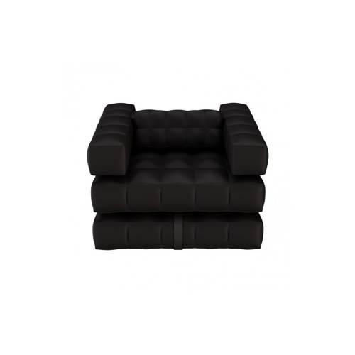 Armchair / Single Lounger Set | Matte Black | Pigro Felice