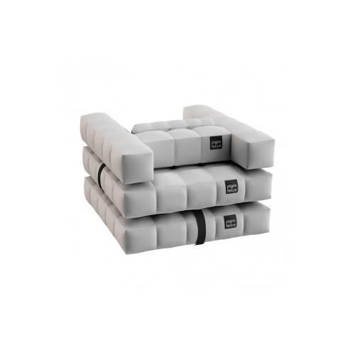 Armchair / Single Lounger Set | Matte White | Pigro Felice