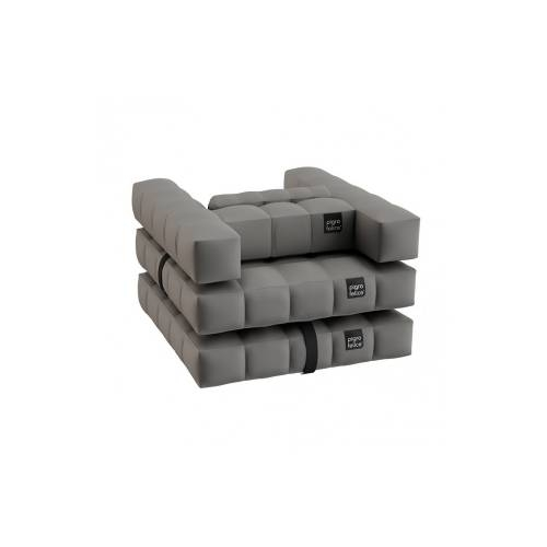 Armchair / Single Lounger Set   Stone Gray   Pigro Felice