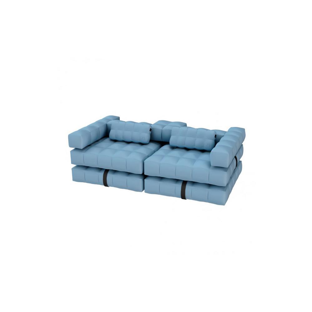 Sofa / Double Lounger Set   Azur Blue   Pigro Felice