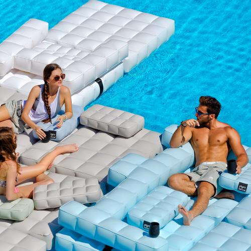Sofa / Double Lounger Set | Matte White| Pigro Felice