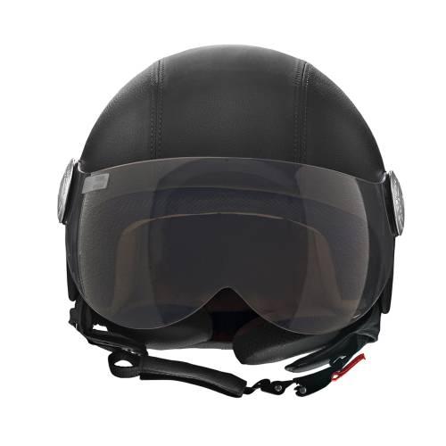 Basic Leather Helmet   Black