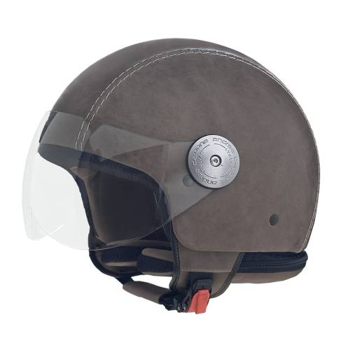 Leather Helmet | Vintage Grey