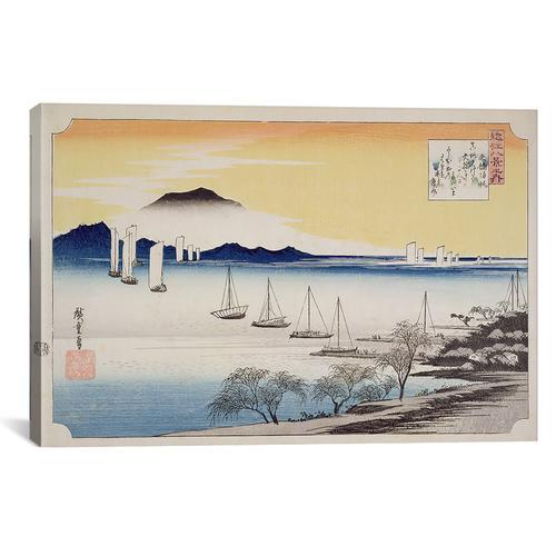 Yabase kihan (Returning Sails at Yabase)   Canvas Print