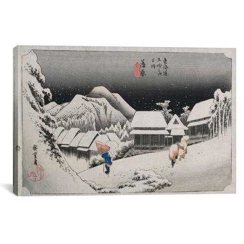Kanbara, yoru no yuki (Kanbara: Night Snow) | Canvas Print