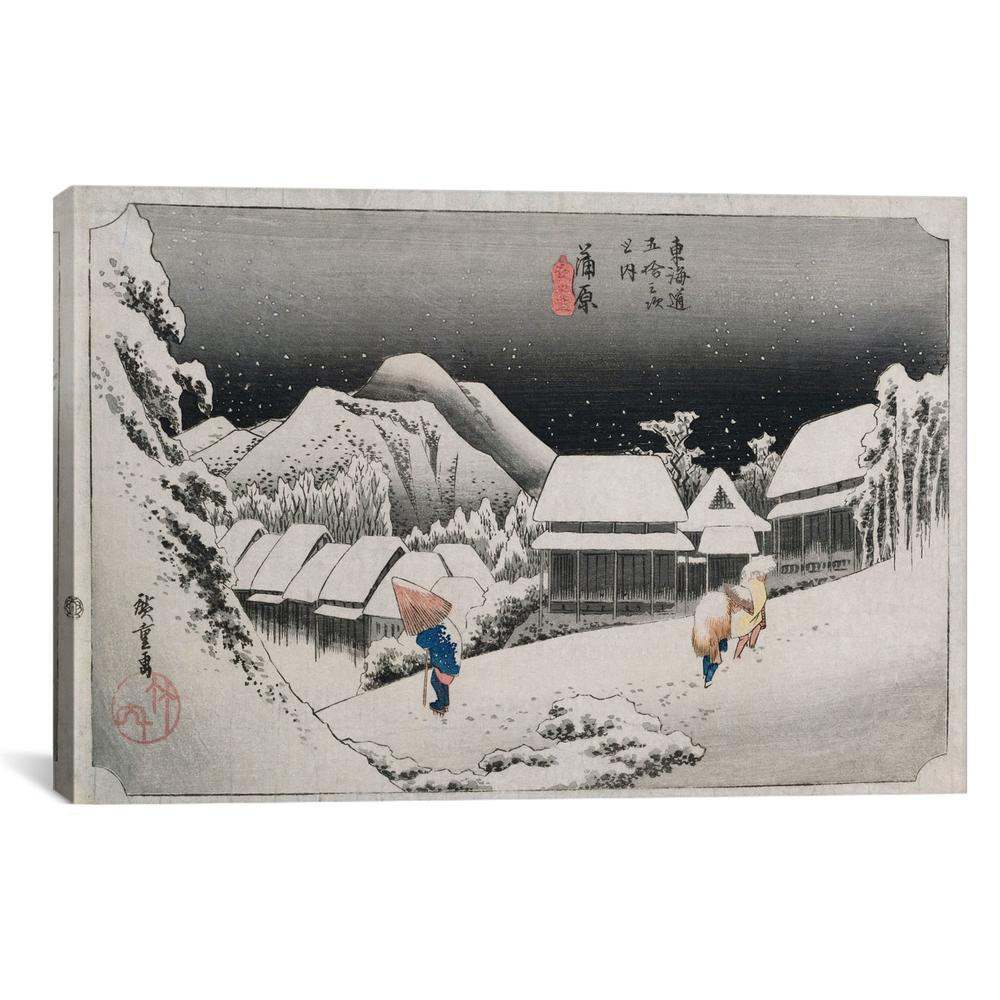 Kanbara, yoru no yuki (Kanbara: Night Snow) | Canvas Print
