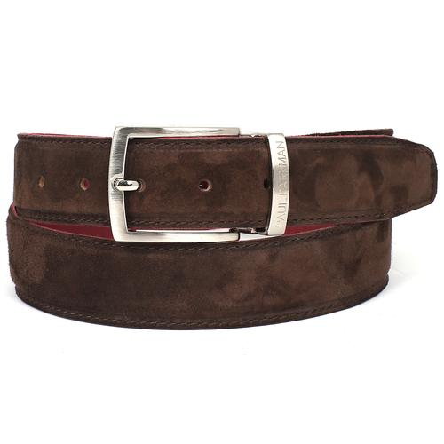Men's Brown Suede Belt | Brown