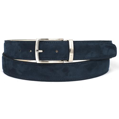 Men's Navy Suede Belt | Navy