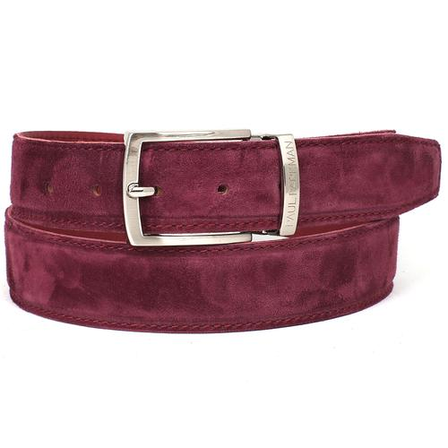 Men's Purple Suede Belt | Purple