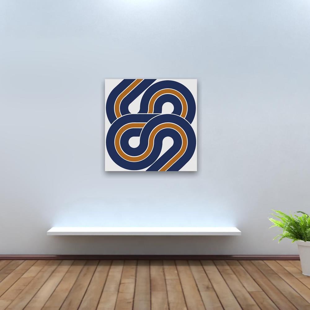 Snake // Blue | MidcenturyArt