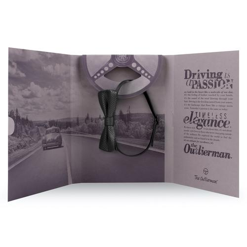 The Swanky Touch | Leather Bow Tie | Black | The OutlierMan