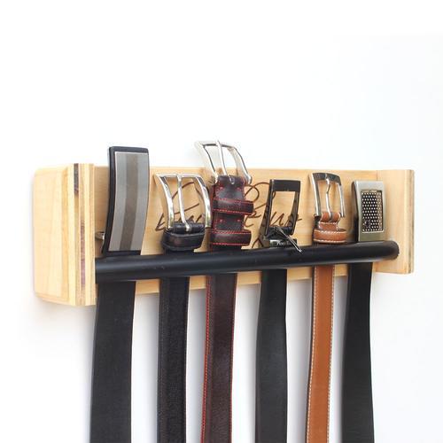 Belt Rack | Engraved 'Buckle Up' | Wood Butcher Designs