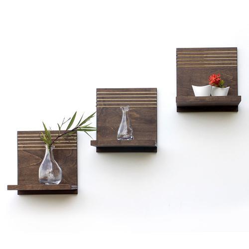Spa Floating Shelves | Set of 3 | Wood Butcher Designs