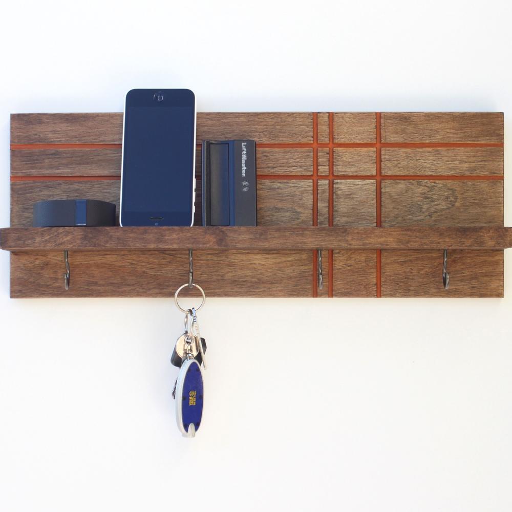 Key / Jewelry Organizer   Geo Modern   Wood Butcher Designs