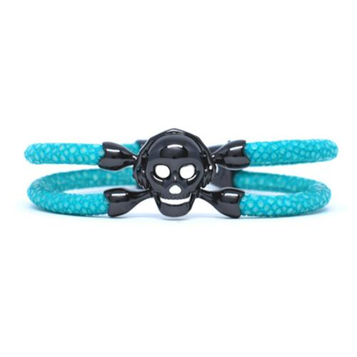 Bracelet | Single Skull | Turquoise/Black