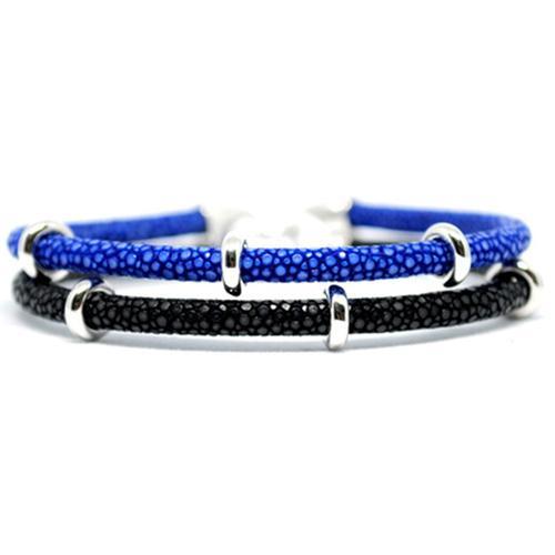 Bracelet | 2x Sting | Blue/Black/Silver