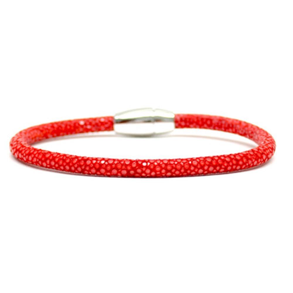 Single Stingray Bracelet | Red | Double Bone