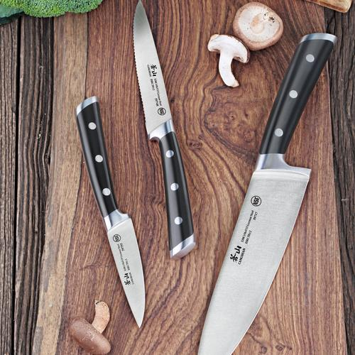 S Series | Set of 3 Knives | Steel | Cangshan