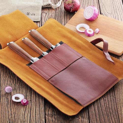 H1 Series | 4-Piece Knife Set | Teak / Leather | Cangshan