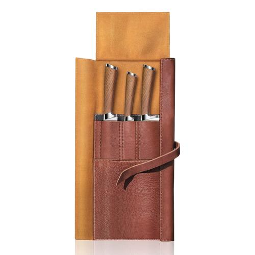H1 Series | 4-Piece Set | Teak / Leather