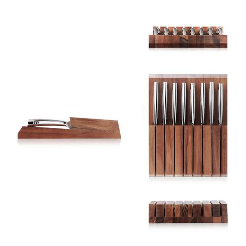 N1 Series 8-Piece Set,Acacia Wood Block | Cangshan
