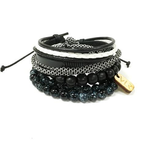 Variety Bracelet Set | Black and White