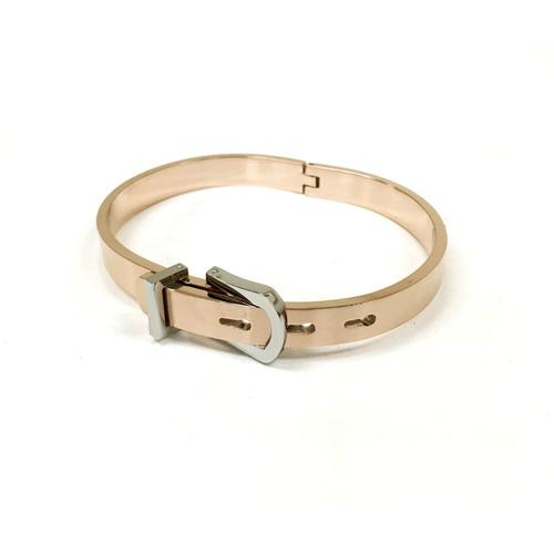 Buckle Bangle | Rose Gold