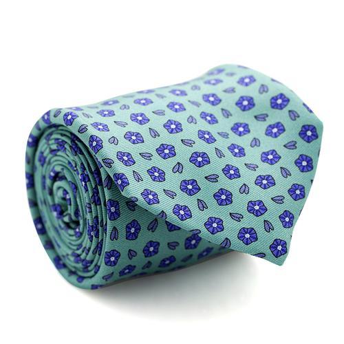Necktie | Magenta with Mini Flowers Pattern