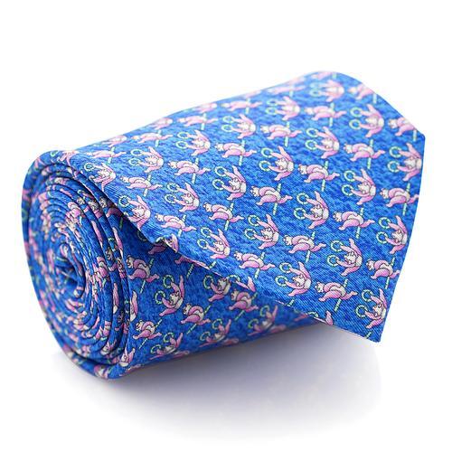 Necktie | Blue with Panda Pattern