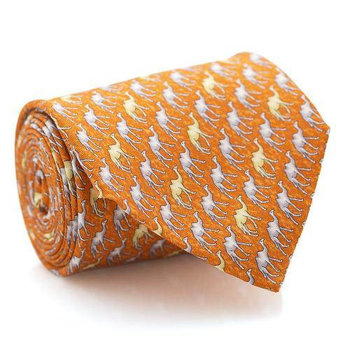 Necktie | Orange with Camel's Pattern