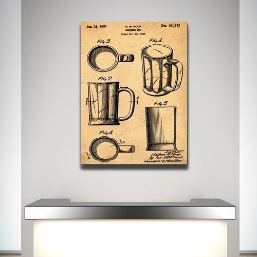 Beer Mug-1951 Sepia/Antique   Canvas