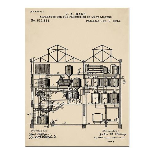 Brewing Malt Liquors-1891 Sepia/Antique   Paper