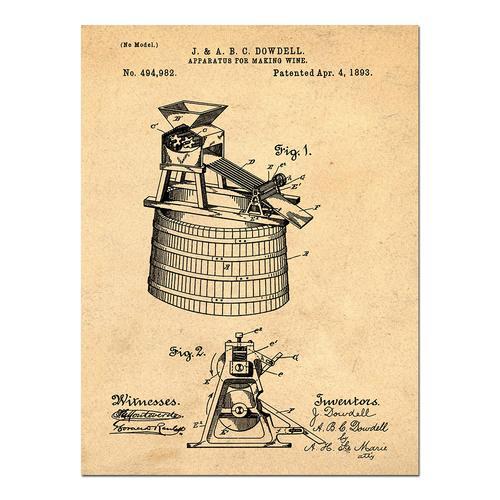 Wine Making-1893 Sepia/Antique   Paper