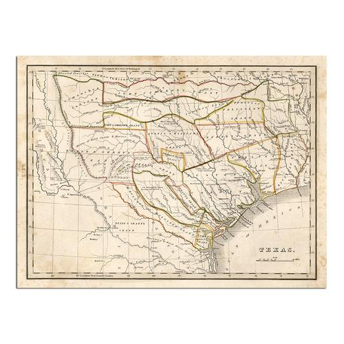 Texas historical map | Paper