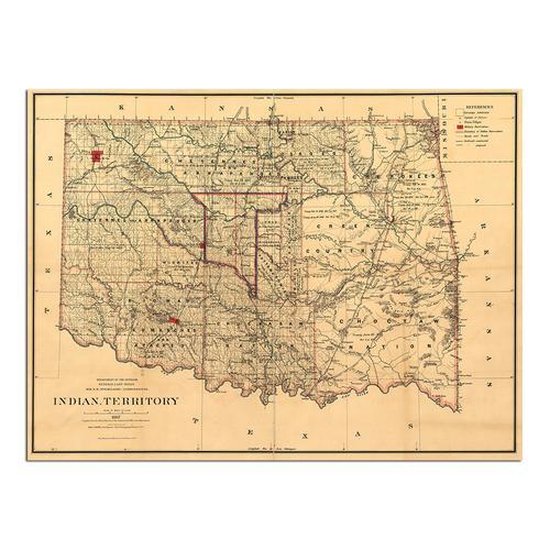 Indian Territory-1887 | Paper
