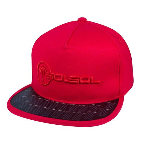 The Solar Charger Hat | Red