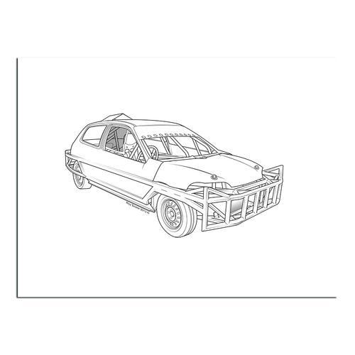 Stock car  II | Paper