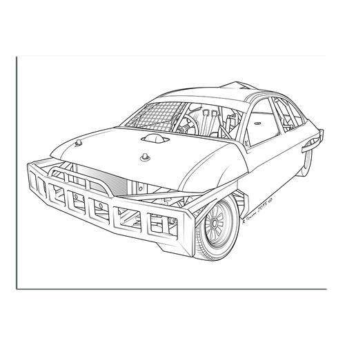 Stock car  I | Paper