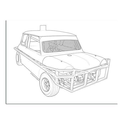 Stock car  II   Paper