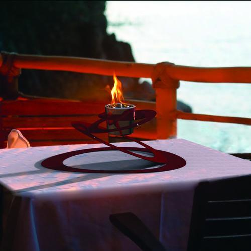 Ovia Bio Ethanol Fireburner | Red | Gloss White | Decorpro