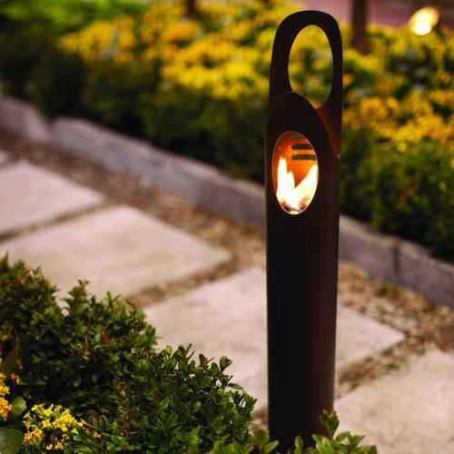 Cyrus Bio Ethanol Outdoor Torch  In Bronze