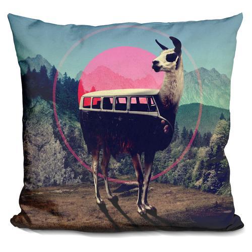'LLAMA' Throw Pillow
