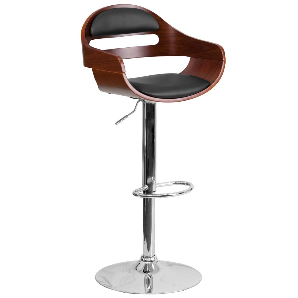 Height Barstool With Black Vinyl Seat Flash Furnitur