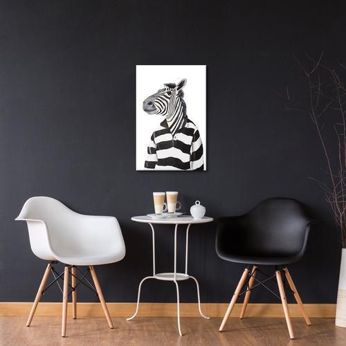 Zebra With Stripy Shirt