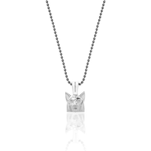 Silver Wolf Necklace II