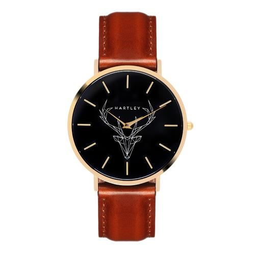 Woodland Gold | Black Dial | Cornell Leather Strap