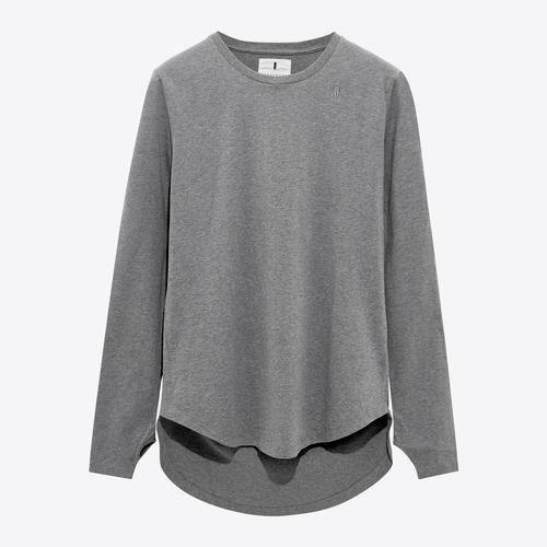 Essential Long Tee | Grey
